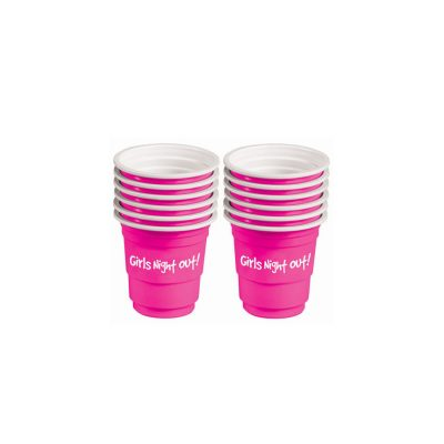 Plastic Shot Glasses Pink Girls Night Out Mini Solo Cup