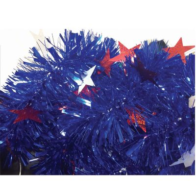 Holographic Metallic Vinyl Patriotic Tinsel Garland
