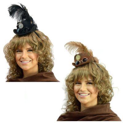 Decorated Steampunk Mini Hat w Headband