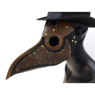 Steampunk Leather Plague Doctor Mask