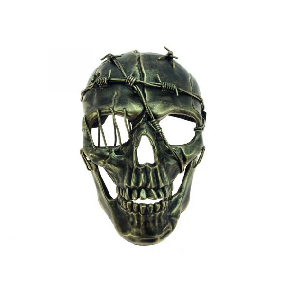 Gold Costume Wired Deluxe Skull Mask