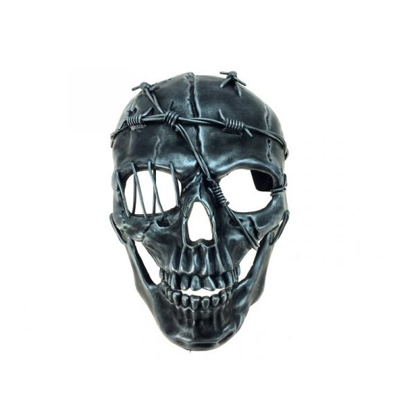 Costume Wired Deluxe Skull Mask - Silver