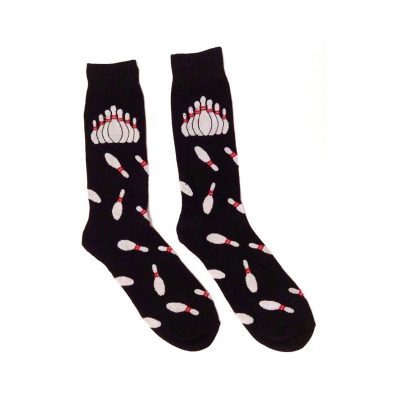 Costume Cotton Socks Bowling Pin Print