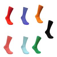 Costume Cotton Solid Color Crew Socks