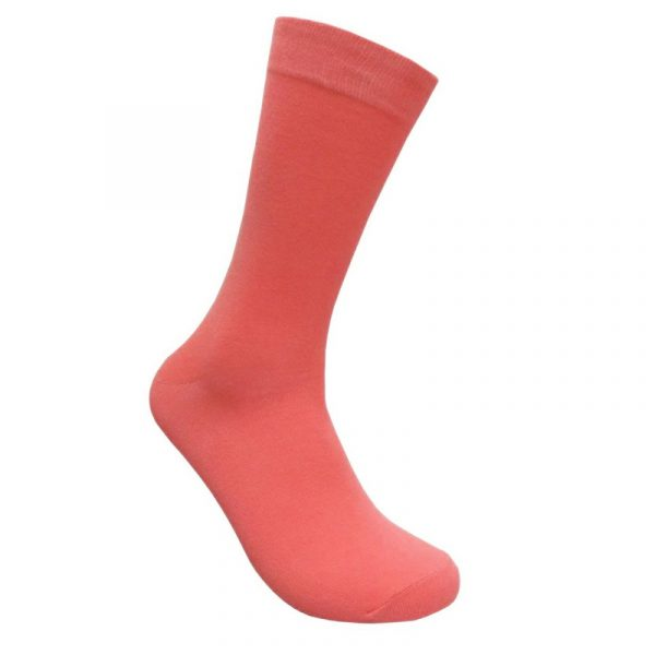 Fuchsia Costume Cotton Solid Color Crew Socks