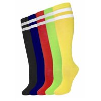 Costume Acrylic Solid Color Knee High Socks w Stripes