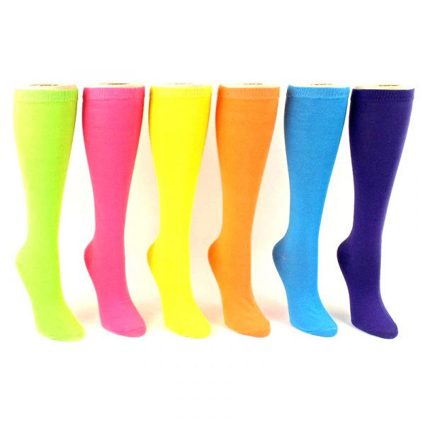 Costume Solid Color Polyester Knee High Socks