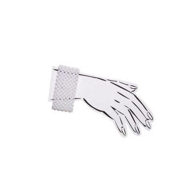 Elastic White Pearl Corsage Wristlet