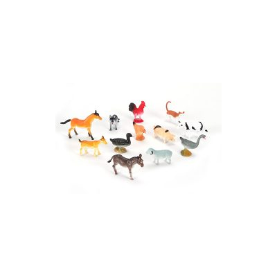 "2"" Deluxe Painted Assorted Plastic Farm Animals"
