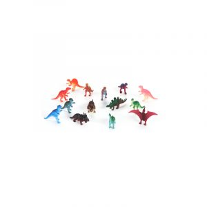 """2"""" Deluxe Painted Assorted Plastic Dinosaurs"""