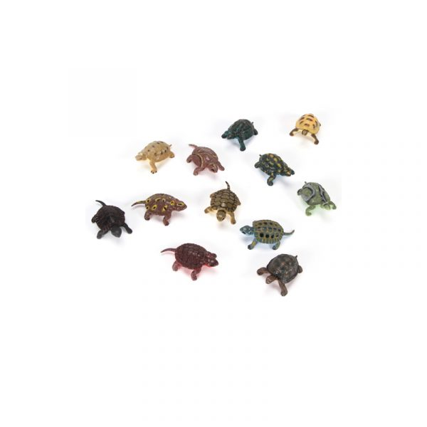 """2"""" Deluxe Assorted Painted Plastic Turtles"""