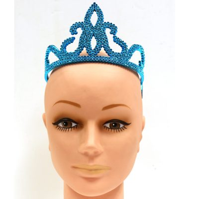 Plated Plastic Turquoise Tiara
