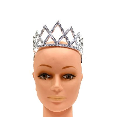 Plated Silver Plastic Diamond Princess Tiara
