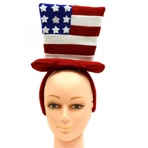 Red White Blue Fabric Patriotic Hat Headband
