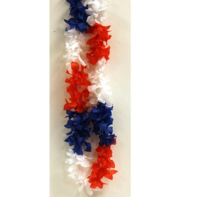 Silk Patriotic Blossom Lei SALE Price