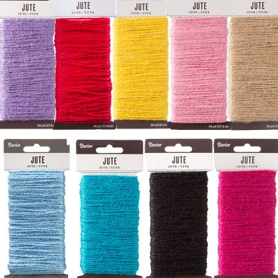 Natural Jute Craft Cord 9 colors