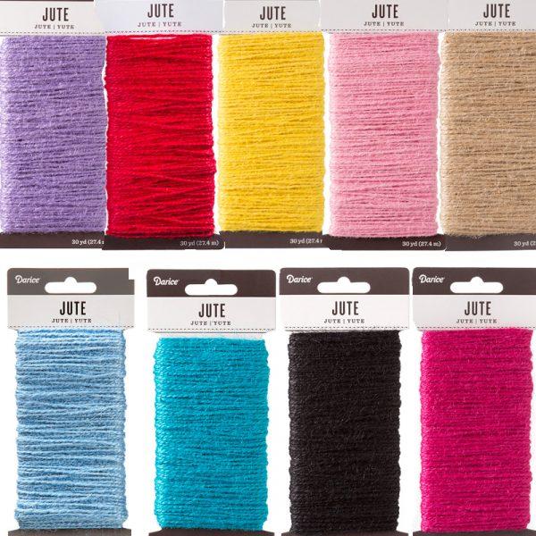 Natural Jute Craft Cord 9 colors
