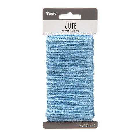 Light Blue Natural Jute Craft Cord