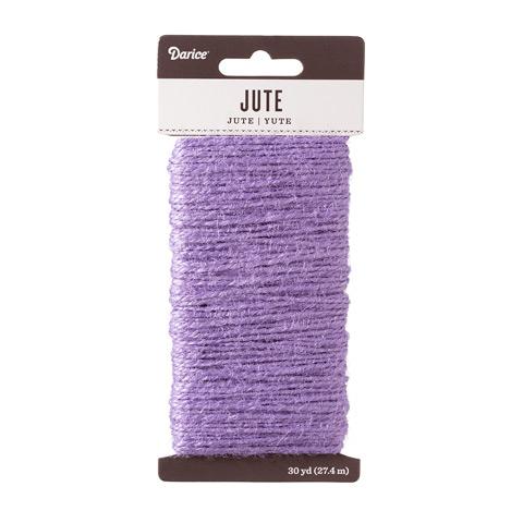 Lavender Natural Jute Craft Cord