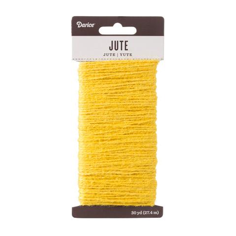 Yellow Natural Jute Craft Cord