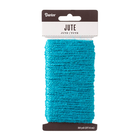 Turquoise Natural Jute Craft Cord