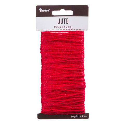 Red Natural Jute Craft Cord