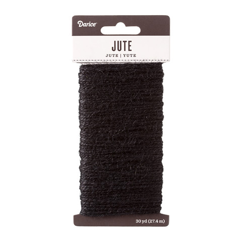 Black Natural Jute Craft Cord
