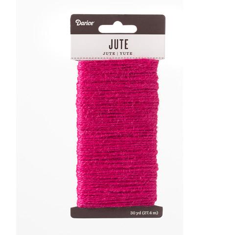 Fuchsia Natural Jute Craft Cord