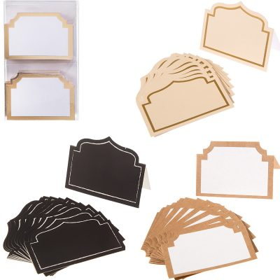 Shaped Cardboard Place Cards