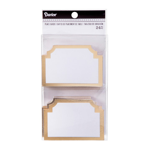 Gold Shaped Cardboard Place Cards