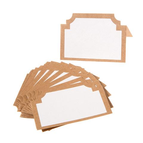 Kraft Shaped Cardboard Place Cards