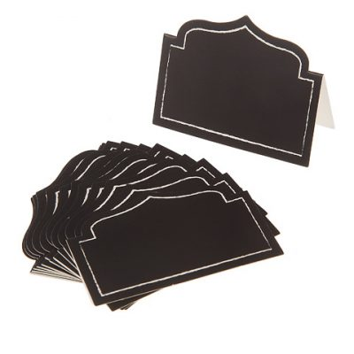 Black Shaped Cardboard Place Cards