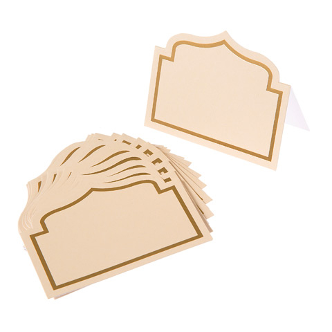 Ivory Shaped Cardboard Place Cards