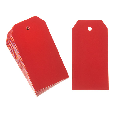 Small Paper Gift Tags Red