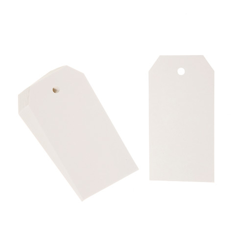 Small Paper Gift Tags White