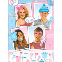 Gender Reveal Photo Prop Accessory Set