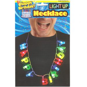 Light-up Happy Birthday Letter Necklace