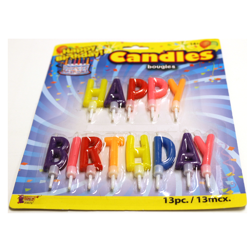 Happy Birthday Letter Candle Pick Set