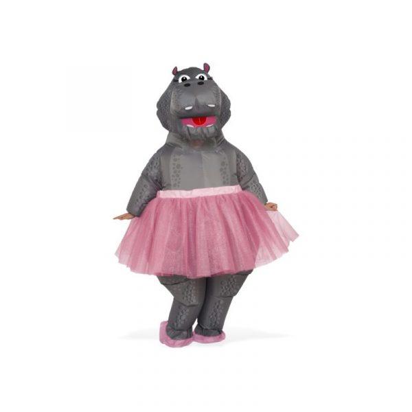Inflatable Hippopotamus Pink Tutu Fiona Adult Halloween Costume