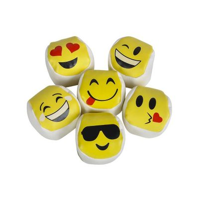 Smile Face Emoji Kick Ball 2 Inch Size