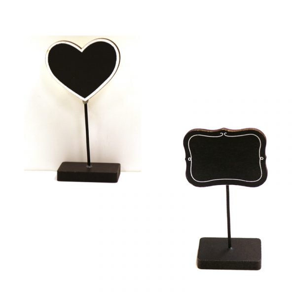 Small Chalkboard Table Sign Holders