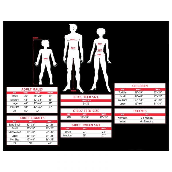 Rubies Costume Size Chart