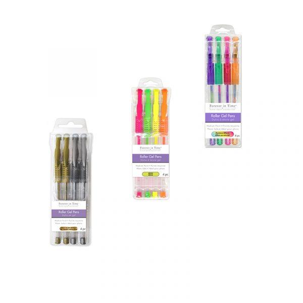 4-Piece Assorted Roller Gel Pen Set