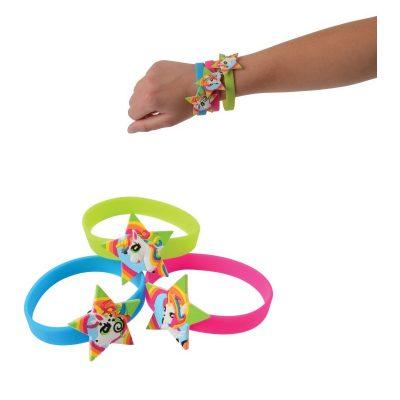 12 Party Rubber Unicorn Bracelets