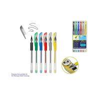 5-Piece Metallic Glitter Gel Pen Set