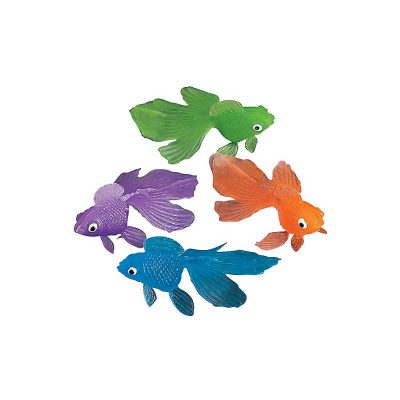 Mini Rubber Goldfish Toy Party Favor