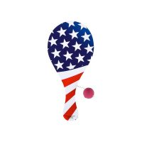 9 Inch Wood Patriotic Paddle Ball Game