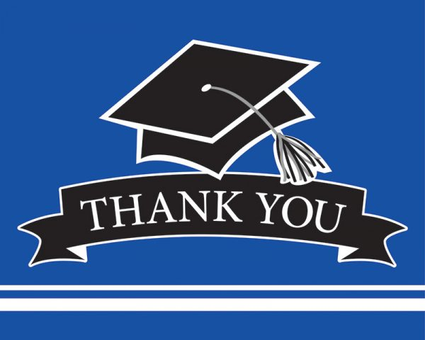 Graduation Thank You Notes Blue