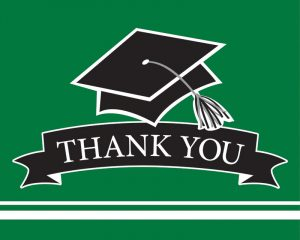 Graduation Thank You Notes Green