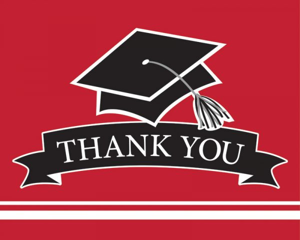 Graduation Thank You Notes Red